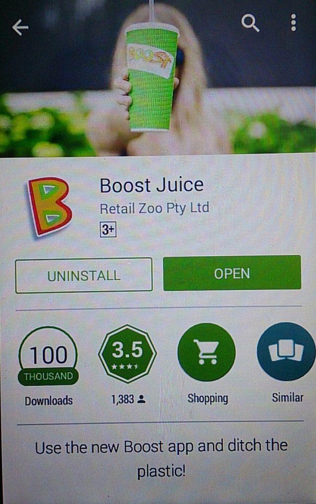 ブーストジュース アプリ