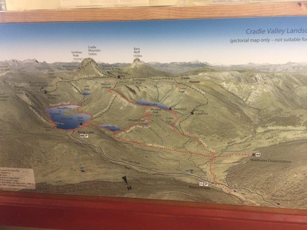 クレイドルマウンテン 地図